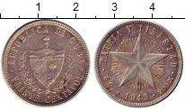 Изображение Монеты Куба 20 сентаво 1949 Серебро XF