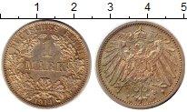 Изображение Монеты Германия 1 марка 1914 Серебро XF А. Орел
