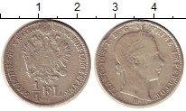 Изображение Монеты Австрия 1/4 флорина 1860 Серебро VF Франц Иосиф I