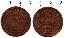 Изображение Монеты Тунис 10 сантим 1907 Медь VF