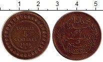 Монета Тунис 5 сантим Медь 1916 XF фото