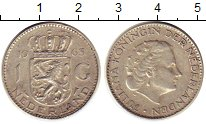Изображение Монеты Нидерланды 1 гульден 1963 Серебро XF