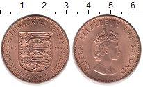 Изображение Монеты Остров Джерси 1/12 шиллинга 1966 Медь UNC Елизавета II. Герб