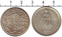 Изображение Монеты Швейцария 2 франка 1963 Серебро XF В