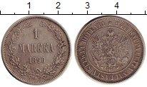 Изображение Монеты 1881 – 1894 Александр III 1 марка 1890 Серебро  L