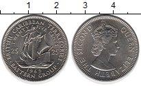 Изображение Монеты Карибы 25 центов 1965 Медно-никель UNC