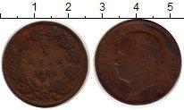 Изображение Монеты Португалия 10 рейс 1884 Бронза VF Луиш I