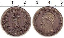 Изображение Монеты Норвегия 1 крона 1890 Серебро XF-