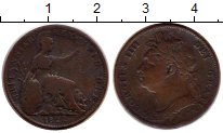 Изображение Монеты Великобритания 1 фартинг 1822 Медь VF