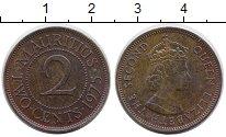 Изображение Монеты Маврикий 2 цента 1975 Медь XF