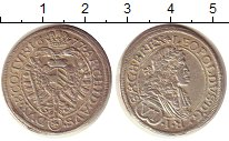 Изображение Монеты Австрия 6 крейцеров 1677 Серебро XF- Леопольд