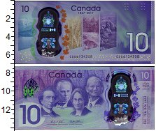 Изображение Банкноты Канада 10 долларов 2017 Пластик UNC 150 лет Конфедерации