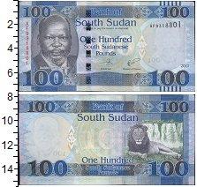 Изображение Банкноты Судан 100 фунтов 2017  UNC Доктор Джон Гаранг