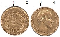 Изображение Монеты Франция 20 франков 1856 Золото XF