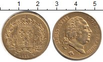 Изображение Монеты Франция 40 франков 1818 Золото XF