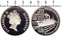 Изображение Монеты Олдерни 2 фунта 1995 Серебро Proof Елизавета II.  50 -