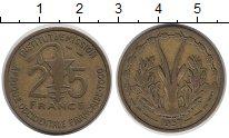 Изображение Монеты Того 25 франков 1957 Латунь VF