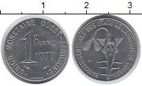 Изображение Монеты Центральная Африка 1 франк 1977 Медно-никель XF