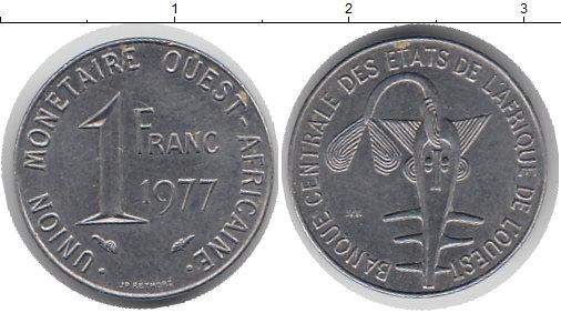 Картинка Монеты Центральная Африка 1 франк Медно-никель 1977