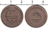Изображение Монеты Венгрия 20 филлеров 1908 Медно-никель XF