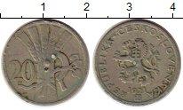 Изображение Монеты Чехословакия 20 хеллеров 1921 Медно-никель VF