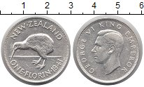 Изображение Монеты Новая Зеландия 1 флорин 1941 Серебро XF