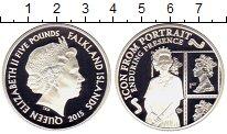 Изображение Монеты Фолклендские острова 5 фунтов 2015 Серебро Proof