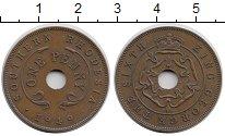 Изображение Монеты Родезия 1 пенни 1949 Бронза XF Георг VI