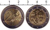Монета Греция 2 евро Биметалл 2014 UNC- фото