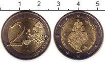 Монета Португалия 2 евро Биметалл 2016 UNC- фото