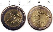 Изображение Монеты Бельгия 2 евро 2013 Биметалл UNC- 10 лет Королевскому