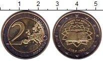 Изображение Монеты Ирландия 2 евро 2007 Биметалл UNC- 50 лет подписания Ри