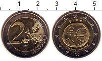 Изображение Монеты Ирландия 2 евро 2009 Биметалл UNC- 10 лет Экономическом