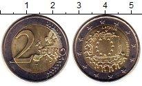 Изображение Монеты Латвия 2 евро 2015 Биметалл UNC-