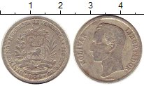 Изображение Монеты Венесуэла 1 боливар 1954 Серебро VF