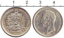 Изображение Монеты Венесуэла 1 боливар 1960 Серебро XF Симон Боливар