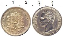 Изображение Монеты Венесуэла 1 боливар 1965 Серебро UNC- Симон Боливар