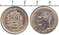 Изображение Монеты Венесуэла 1 боливар 1960 Серебро XF+ Симон Боливар