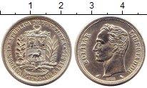 Изображение Монеты Венесуэла 1 боливар 1960 Серебро UNC-