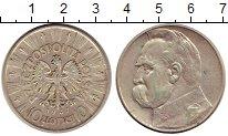 Изображение Монеты Польша 10 злотых 1937 Серебро XF Пилсудский