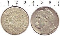 Изображение Монеты Польша 10 злотых 1934 Серебро XF Пилсудский (ЛЕГИОНЕР