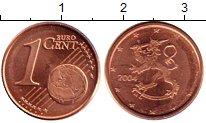 Изображение Мелочь Финляндия 1 евроцент 2004 Бронза UNC Герб