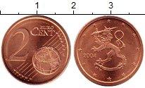 Изображение Мелочь Финляндия 2 евроцента 2004 Бронза UNC Герб