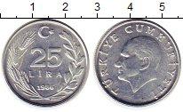 Изображение Монеты Турция 25 лир 1986 Алюминий XF