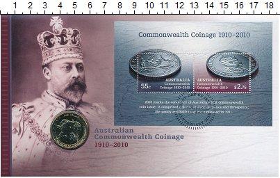 Изображение Подарочные монеты Австралия 1 доллар 2010 Латунь UNC Елизавета II.  100 -