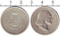 Изображение Монеты Венгрия 2 пенго 1936 Серебро XF Ференц  Лист