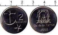 Изображение Монеты Гаити 2 эскалин 2012 Медно-никель UNC- Токен. Остров Тортуг