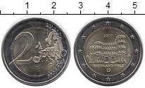 Монета Германия 2 евро Биметалл 2017 UNC-