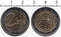 Изображение Монеты Бельгия 2 евро 2007 Биметалл UNC- 50  лет  Римскому  Д