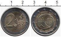 Изображение Монеты Бельгия 2 евро 2009 Биметалл UNC- 10  лет  Валютному